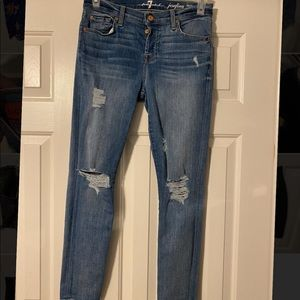 Ankle Skinny Distressed Jeans